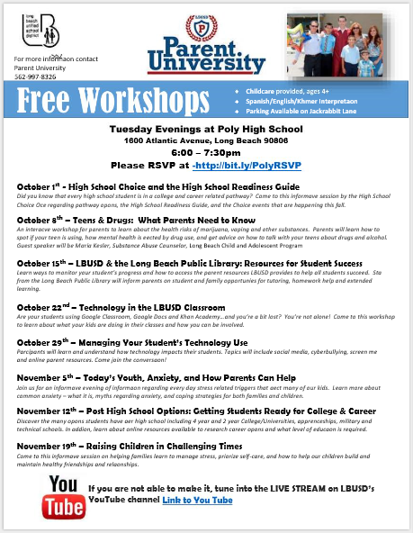 LBUSD Workshops